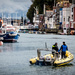 Weymouth Harbour with Yellow Rib Boat
