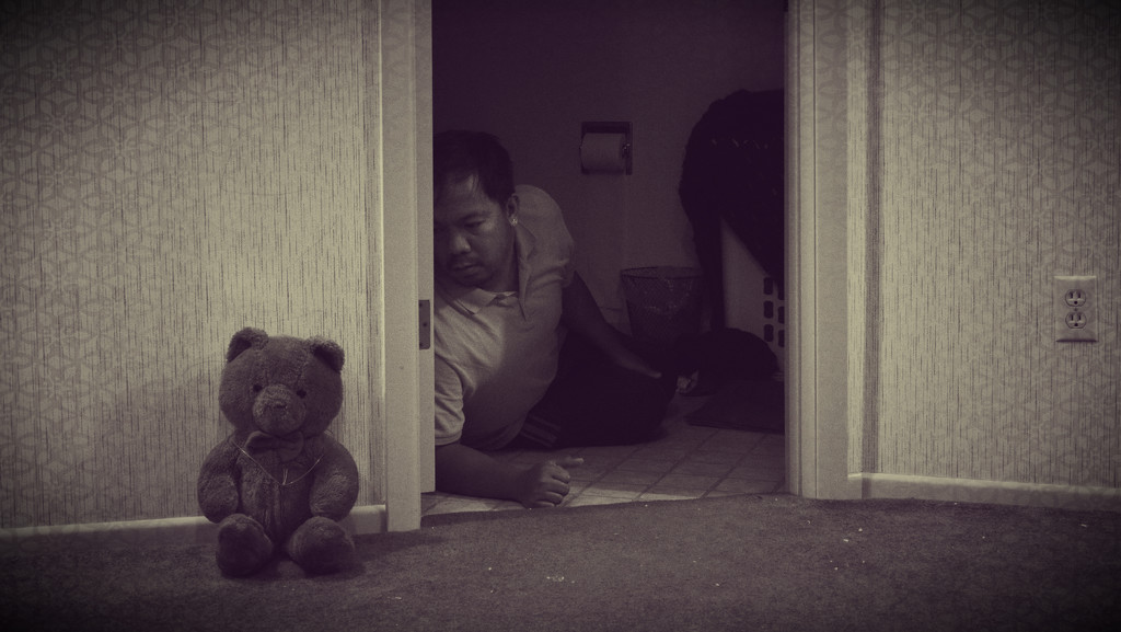 Hide and Seek with Mr. Teddy! by fiveplustwo