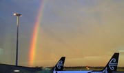 13th Oct 2017 - Rianbow over my plane to Perth