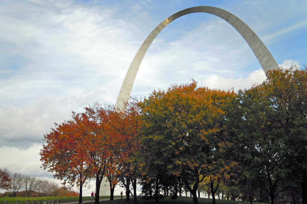 St. Louis Arch in Autumn by lsquared