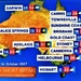 Yesterdays Weather Map for Queensland ~