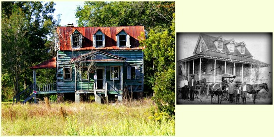 The Henry Hutchinson House - Now and Then by peggysirk