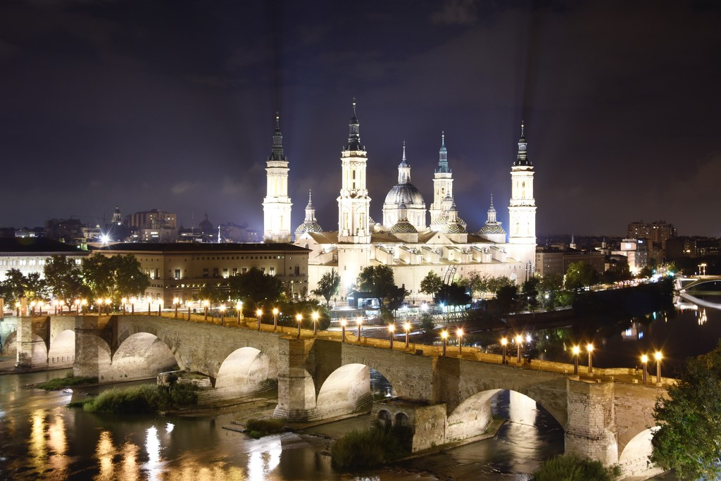 Zaragoza At Night _DSC6131 by merrelyn
