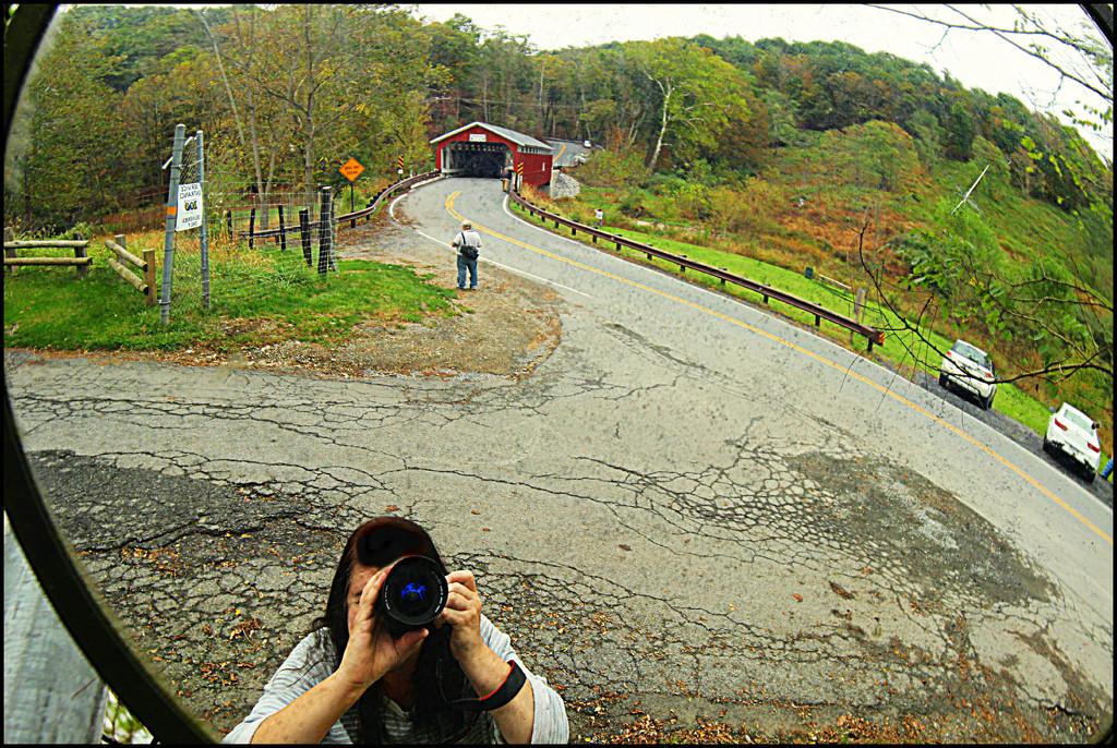 Covered Bridge Selfie by olivetreeann