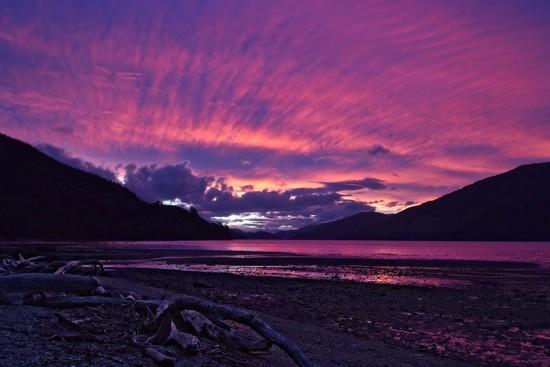 Sunset over Mahau by kiwinanna