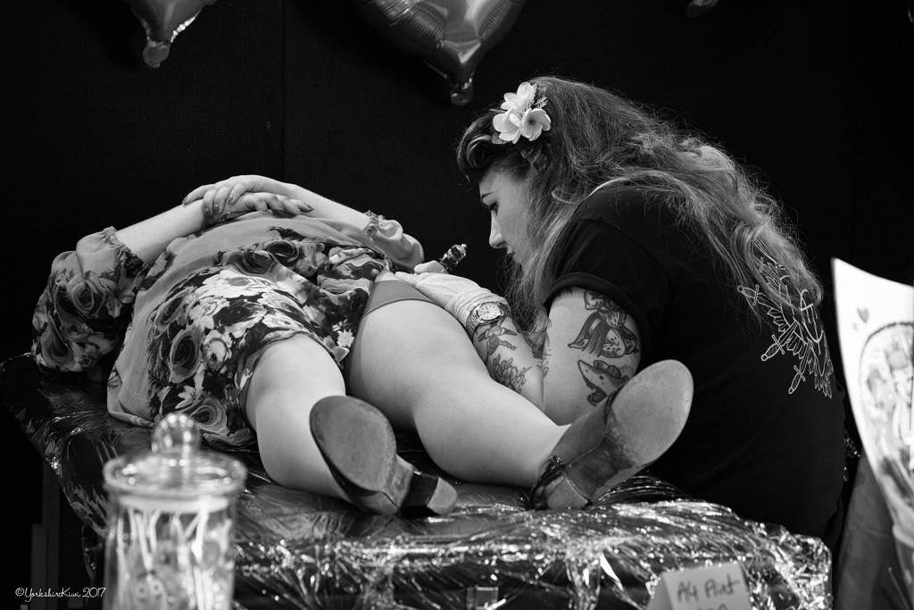 Tattoo Artist at Work by yorkshirekiwi