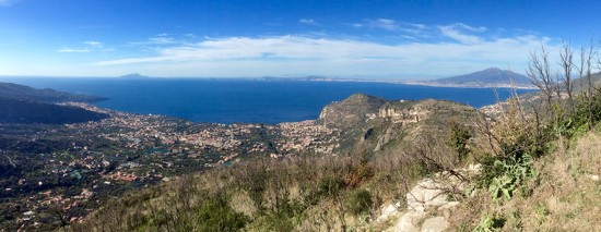 Bay of Naples from Sorrento Peninsular by helly31