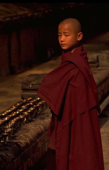 27 Boy Buddhist in Bodh Gaya, India by travel