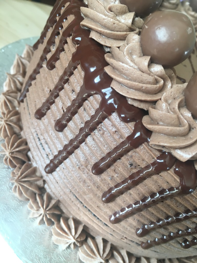 Chocolate Drip Cake by cookingkaren