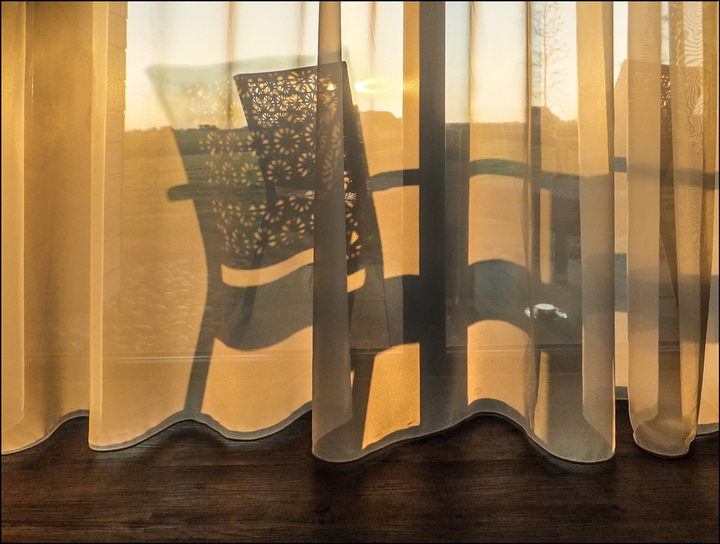 Net curtains, hotel room by ivan