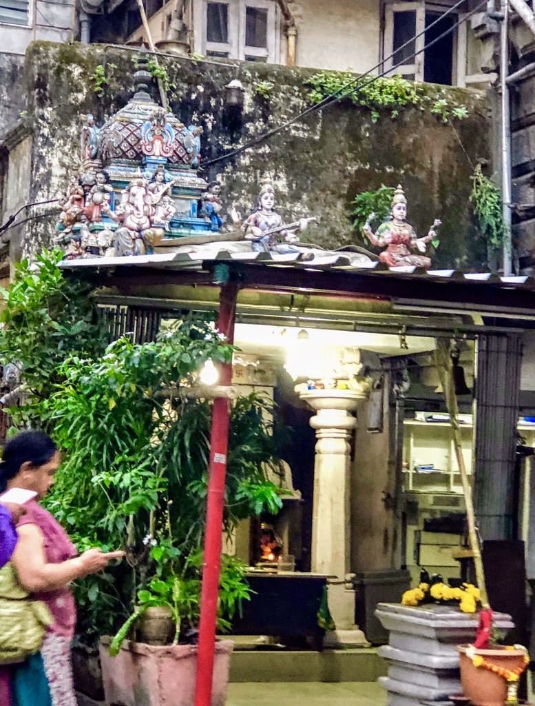 The temple in the business area of Mumbai  by veengupta