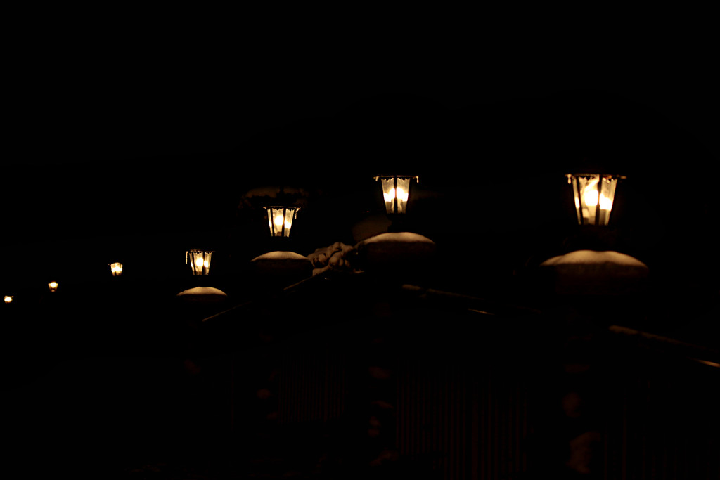 lamps on a bridge by gq