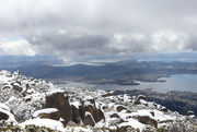 4th Nov 2017 - Snowy view over Hobart, Tasmania