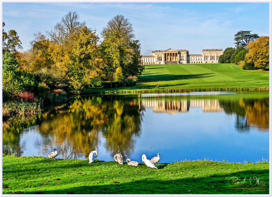 Stowe House From The Octagon Lake by carolmw