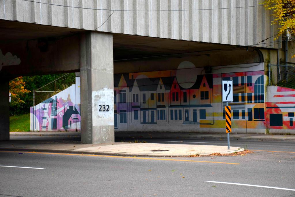 underbridge mural by summerfield