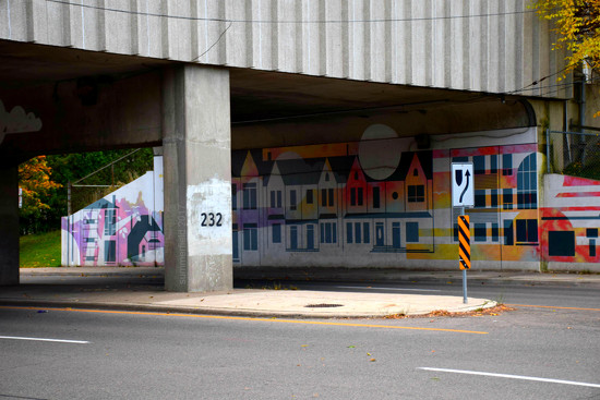 underbridge mural by summerfield