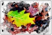 7th Nov 2017 - Watercolor Leaf