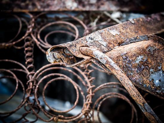 rusty farmyard by pistache
