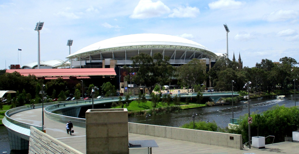 Pedestrian Bridge  over the Torrens RiverAdelaide leading to the Adelaide Oval by 777margo