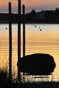 14th Nov 2017 - Big rock and pilings at sunset.
