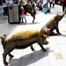 Bronze Pigs in the Adelaide Mall