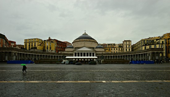 Piazza Plebiscito....and it rains by caterina