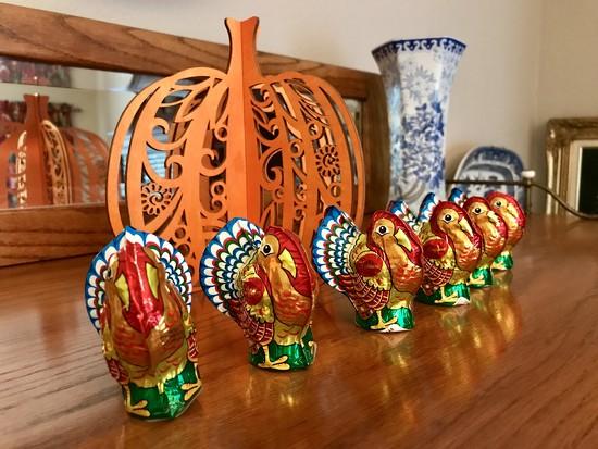 The chocolate turkeys by louannwarren