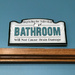 Bathroom humour