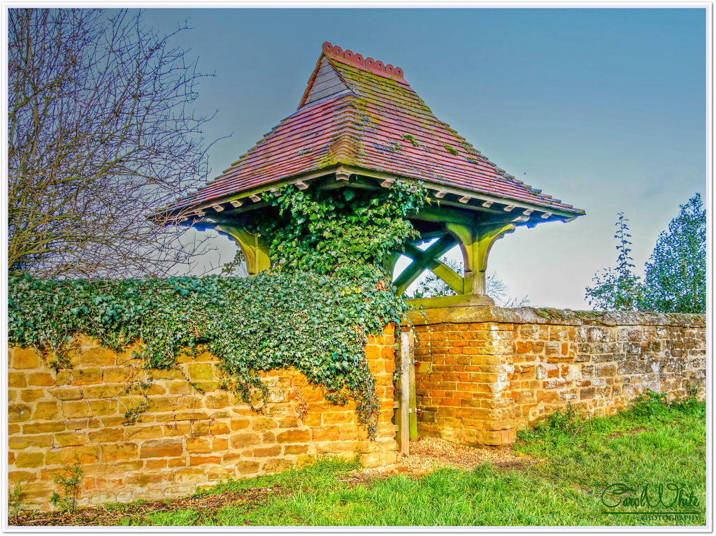 Ivy-clad Lych Gate,St.Mary's Church,Great Brington by carolmw