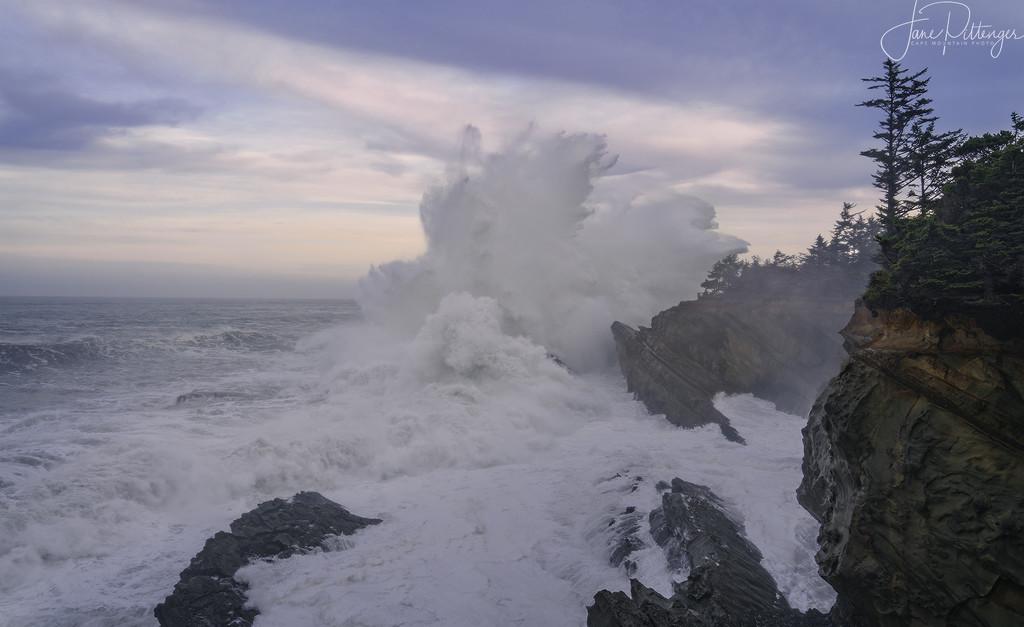 High Surf At Dawn  by jgpittenger