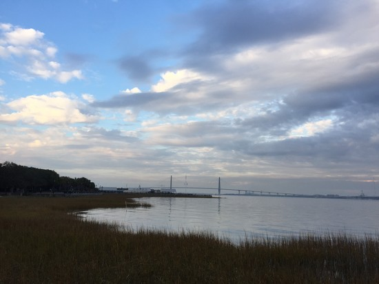 Clouds over Charleston Harbor at Waterfront Park, Charleston, SC by congaree