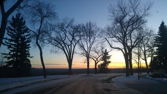 Winter Sunset by bkbinthecity