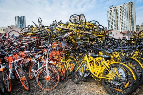 Too Many Rental Bicycles by jyokota
