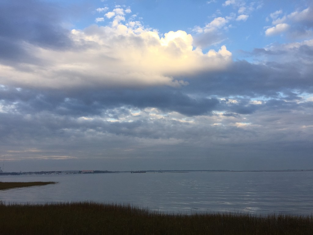 Clouds and Charleston Harbor, Charleston, SC by congaree