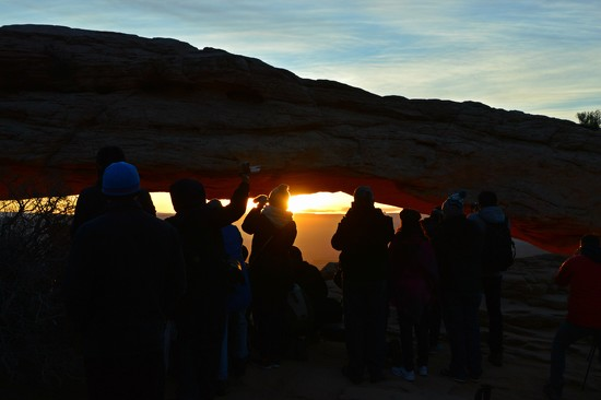 Photographers at Mesa Arch, Canyonlands, Utah by bigdad