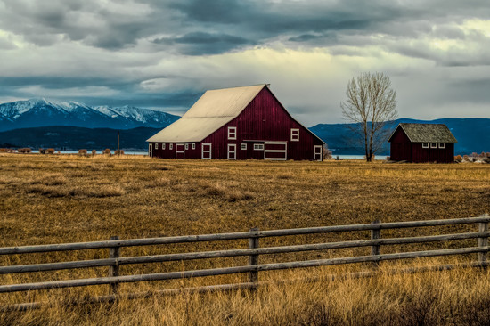 Country Barn on an Overcast Day by 365karly1