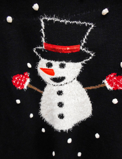 Snowman by mittens