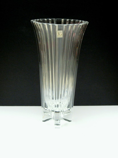 Crystal vase by bruni
