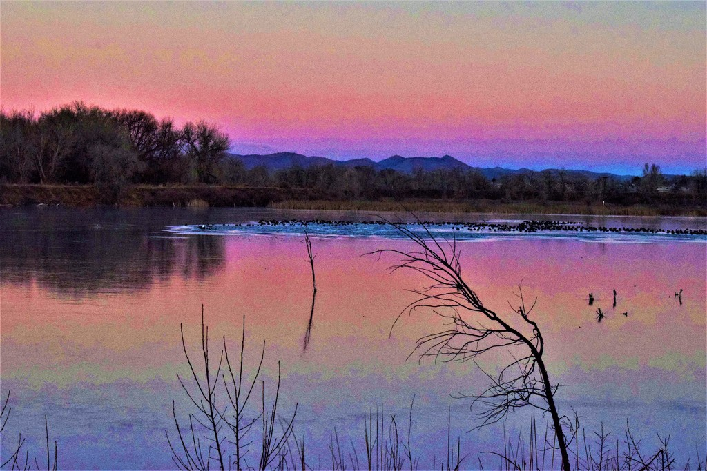 Sunrise at Riverbend Ponds by sandlily