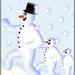 Computerart snowmen art