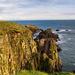 The cliffs at Slains Castle