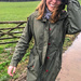 Our daughter Katja in the cold and wet English countryside.......