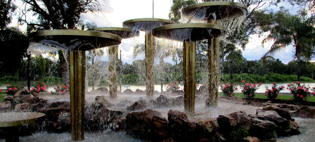 Wonderful Fountain along the River Murray at Loxton.  Sth.  Australia by 777margo
