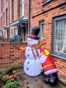 13th Dec 2017 - Snowman and Father Christmas