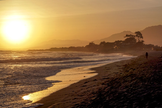 A Healthy Sunset in Carpinteria by Weezilou