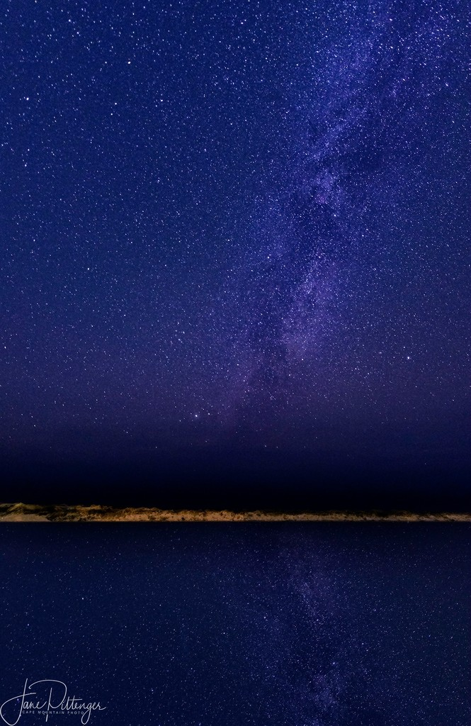 Milky Way Over River by jgpittenger