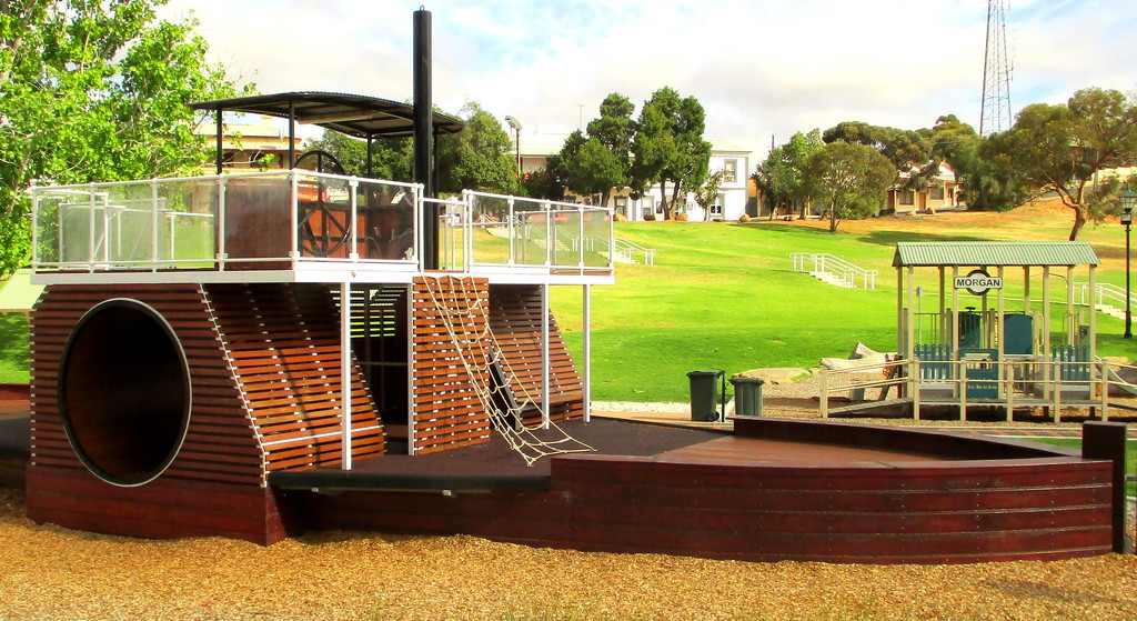 An image of a Paddle Steamer, in the playground by 777margo
