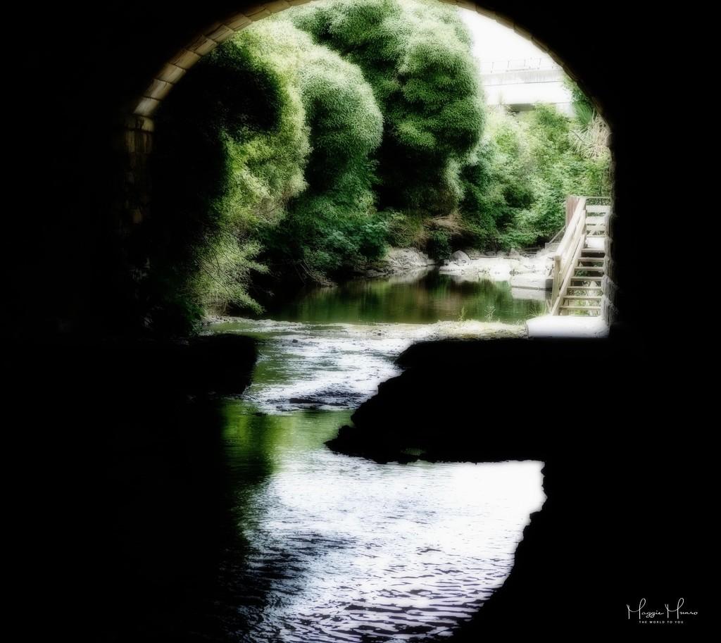 Bridge over quiet waters by maggiemae