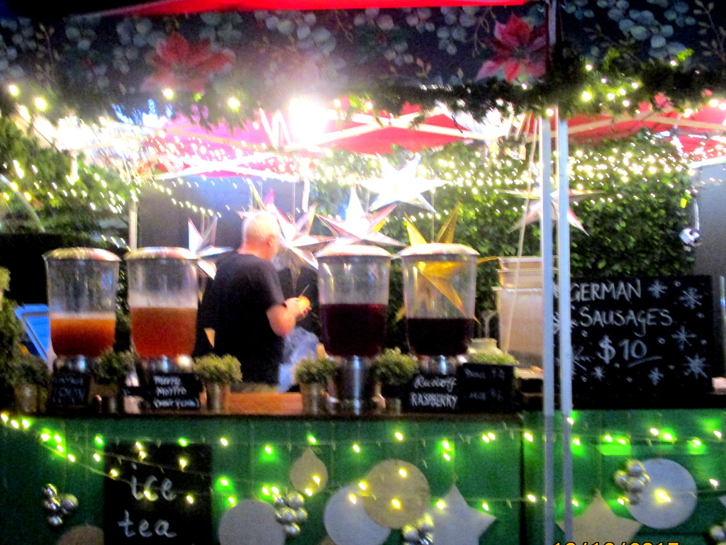 Drinks stall at the South Bank Christmas Market by 777margo
