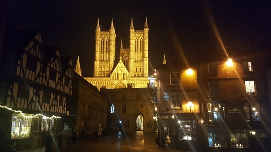 Lincoln Cathedral from the Tapas Bar by suzanne234